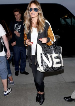 Heidi Klum at Los Angeles International Airport