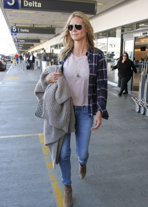 Heidi Klum in Jeans at Los Angeles International Airport