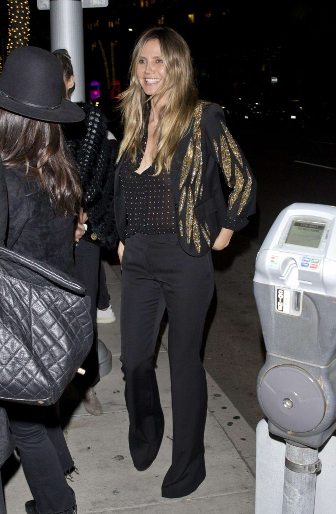 Heidi Klum at Mr Chow Restaurant in Beverly Hills