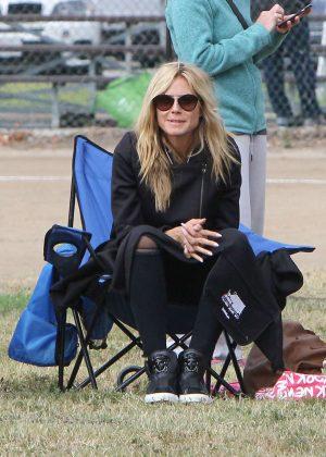 Heidi Klum at soccer game in Los Angeles