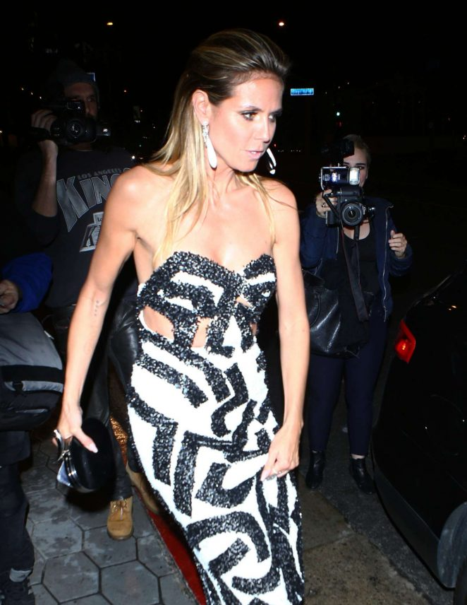 Heidi Klum at the Golden Globes After Party in Los Angeles