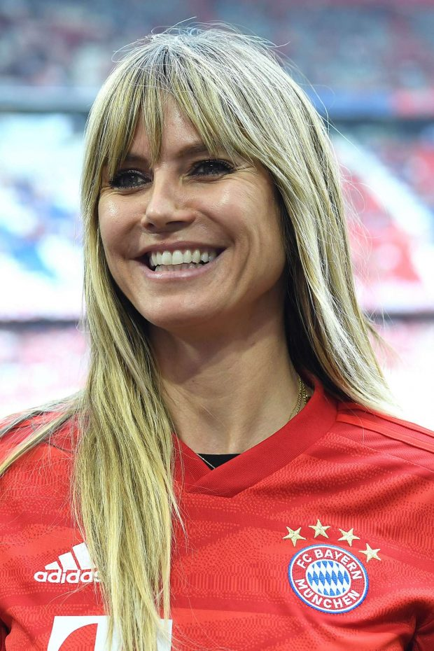 Heidi Klum - Attends the Bundesliga Match at Allianz Arena in Munich