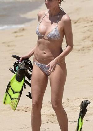 Heidi Klum in Bikini in St.Barts