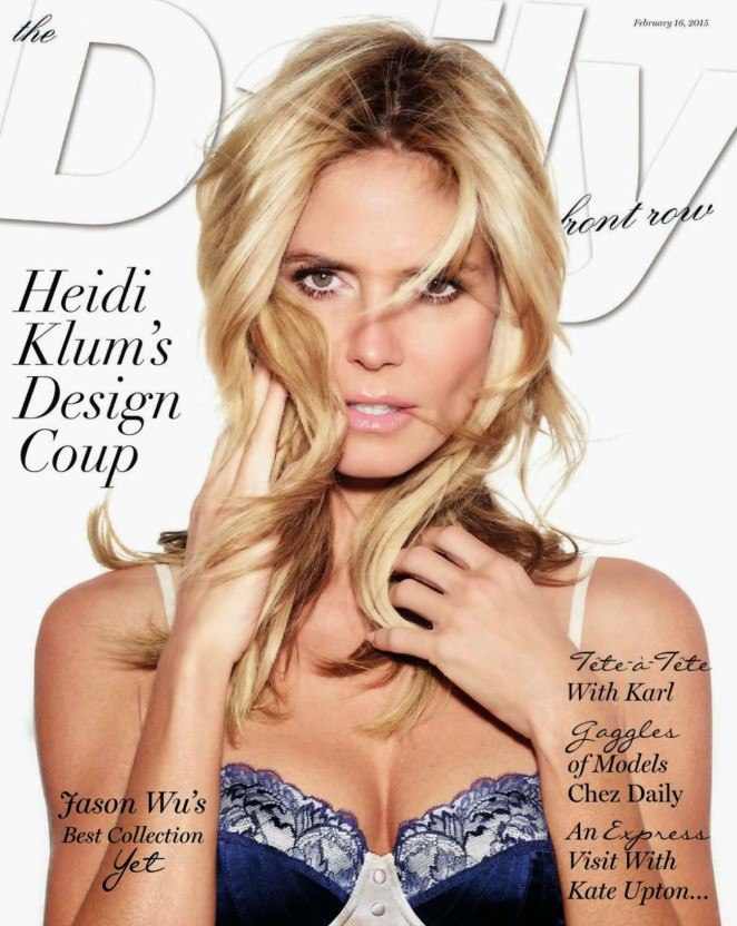 Heidi Klum – Daily Front US Cover (February 2015)