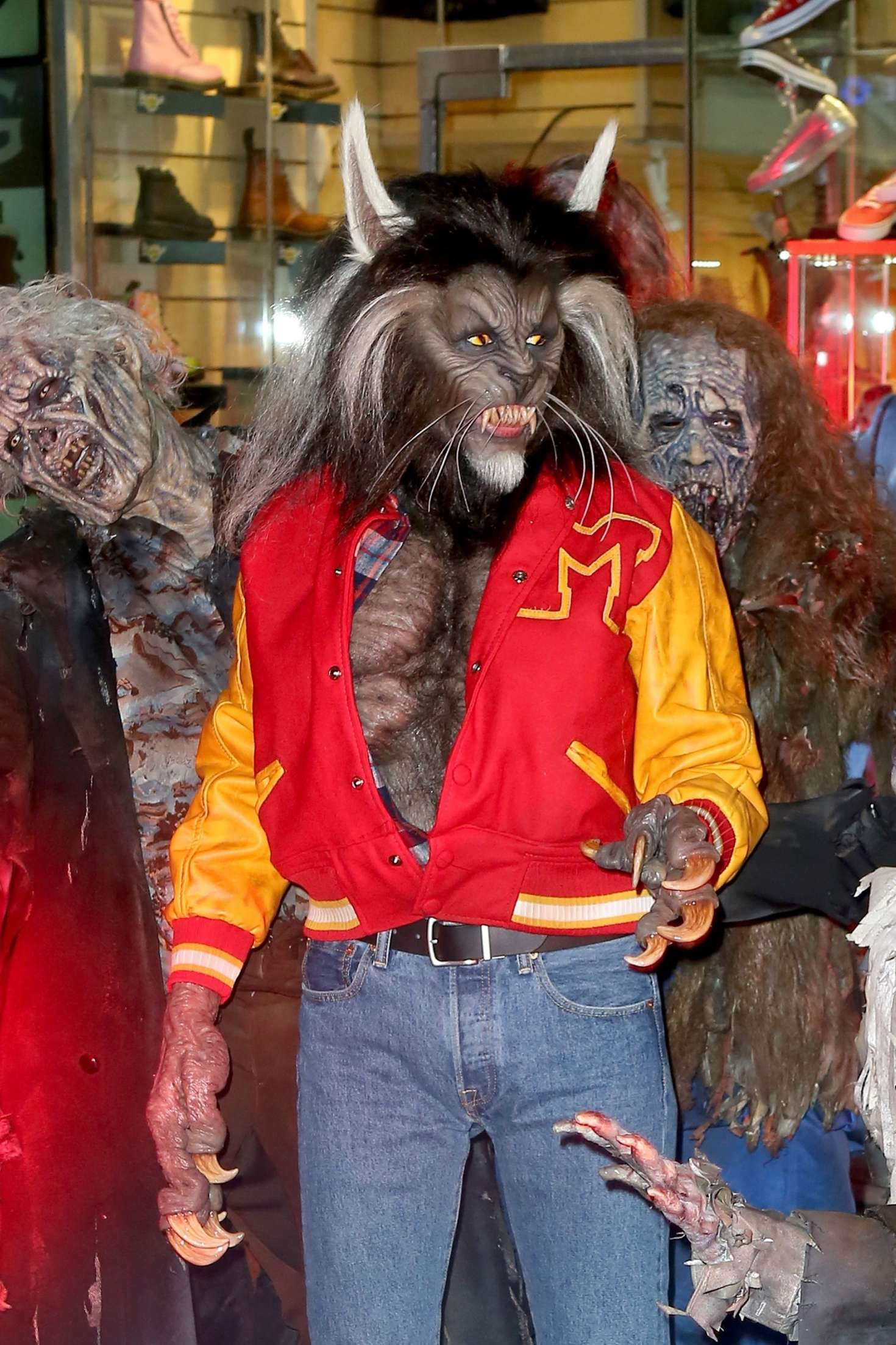 Heidi Klum - Dresses as nerd Scott Howard from Teen Wolf at her annual Halloween Bash in NY