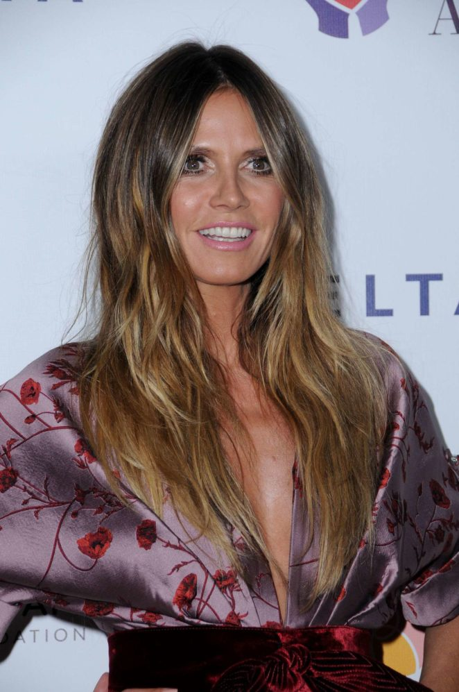 Heidi Klum - Elizabeth Taylor AIDS Foundation and Mothers2Mothers Benefit Dinner in LA