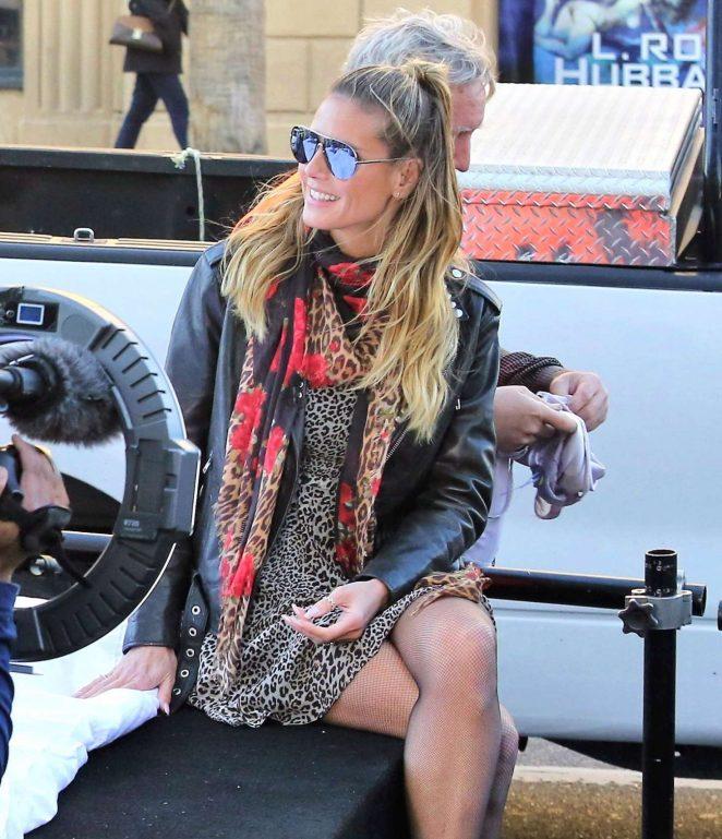 Heidi Klum - Filming 'German's Next Top Model' in Hollywood