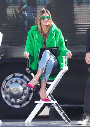 Heidi Klum - Filming Germany's Next Topmodel in Santa Monica