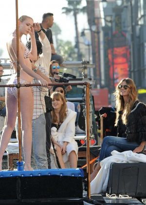 Heidi Klum - Germany's Next Top Model filming in Hollywood