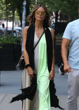 Heidi Klum going to lunch in NYC