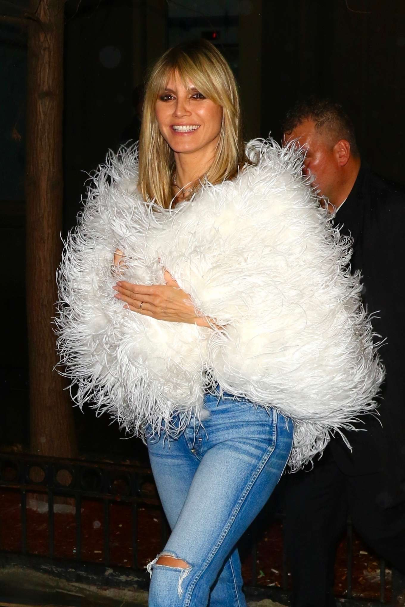 Heidi Klum 2020 : Heidi Klum – Heads to a party after the amfAR Gala in New York-10
