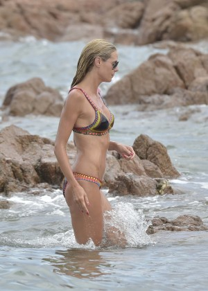 Heidi Klum in Bikini in Italy