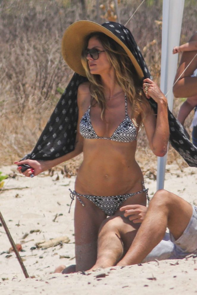 Heidi Klum in bikini at the beach in San Jose