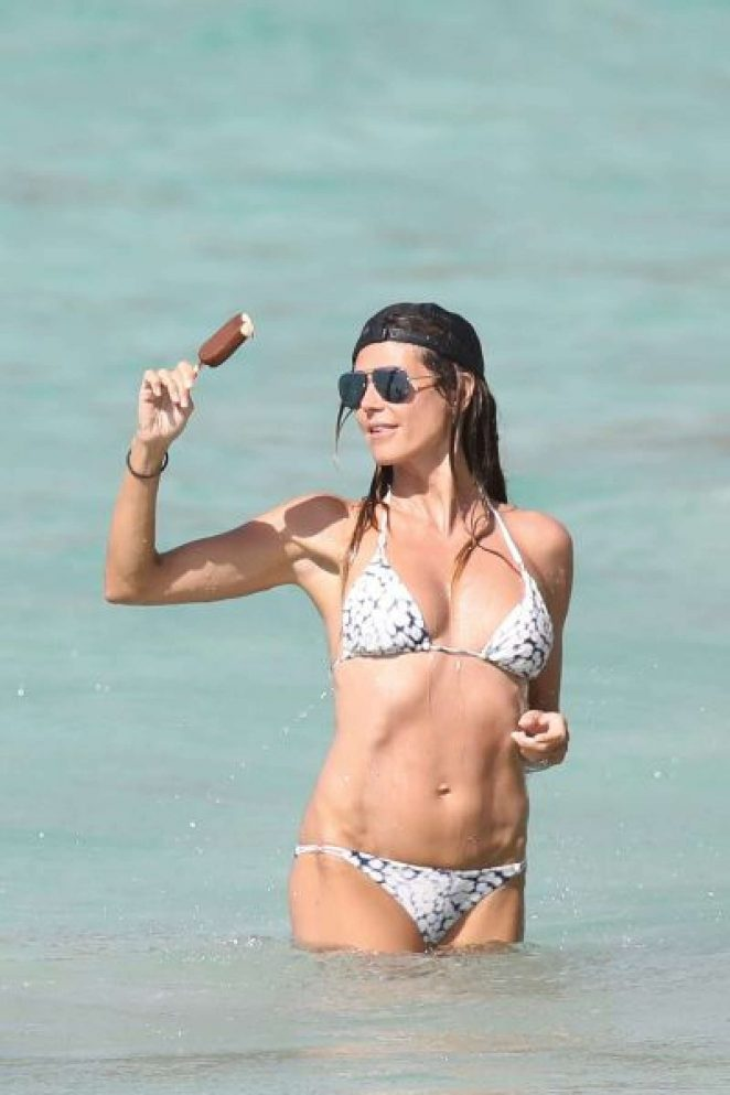 Heidi Klum in Bikini on the beach in St Barts