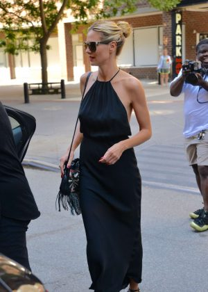 Heidi Klum in Black Dress out in Tribeca