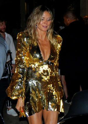 Heidi Klum in Gold Dress at Ocean Drive Magazine Party in Miami