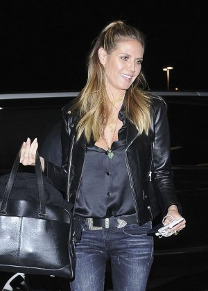 Heidi Klum in Jeans at LAX Airport in Los Angeles