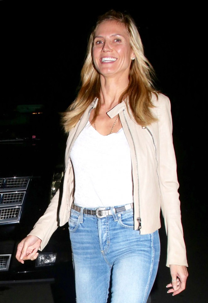 Heidi Klum in Jeans at Matsuhisa in Beverly Hills