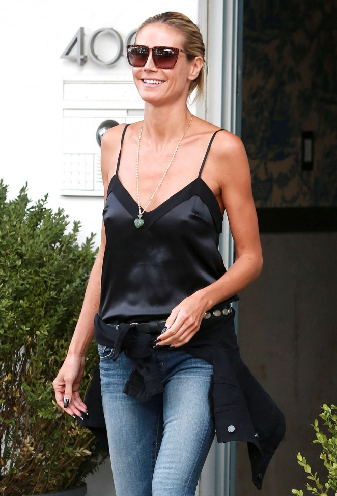 Heidi Klum in Jeans Out and about in NYC