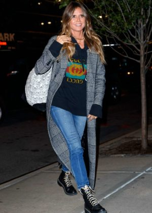 Heidi Klum in Jeans out in NYC