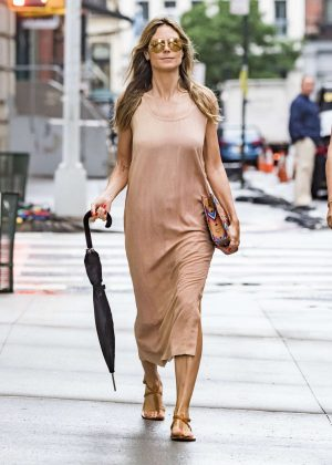 Heidi Klum in Long Dress - Out in New York