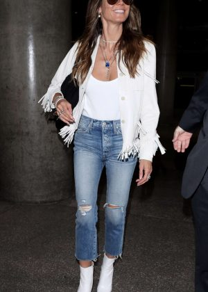 Heidi Klum in Ripped Jeans at LAX airport in Los Angeles