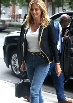 Heidi Klum in Skinny Jeans out in New York