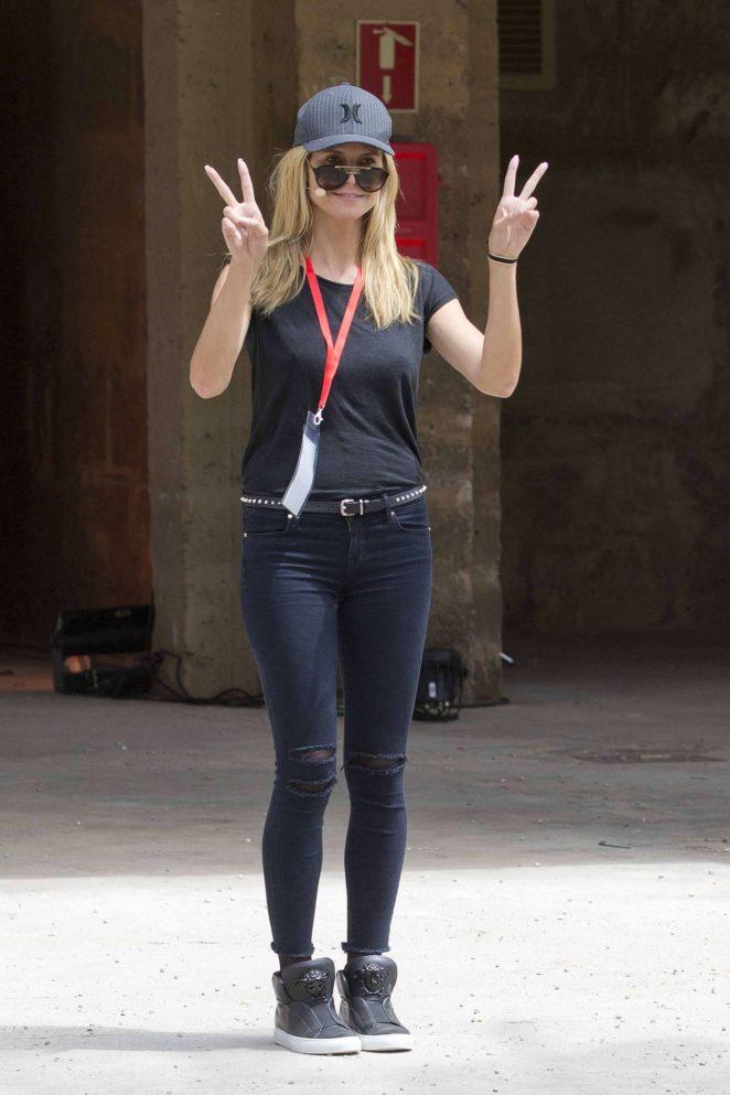 Heidi Klum in Tight Jeans in Palma de Mallorca