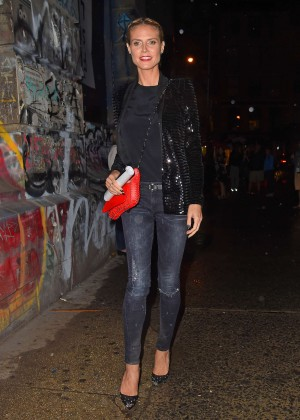 Heidi Klum in Tight Jeans Out in Soho