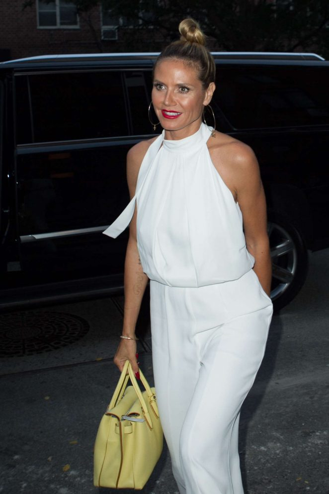 Heidi Klum in White out in New York City