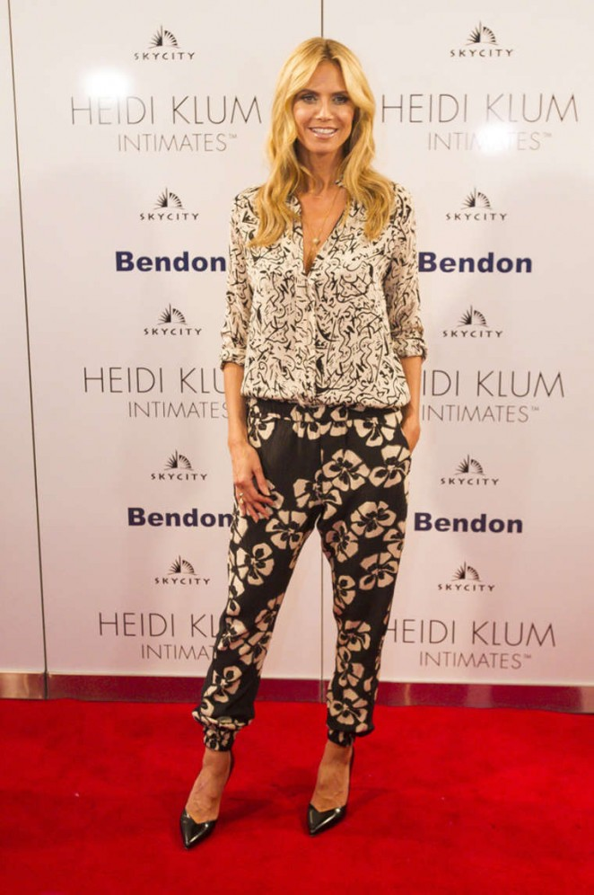Heidi Klum - Intimates Collection Launch in Auckland