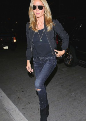 Heidi Klum in Tight Jeans at LAX Airport in LA