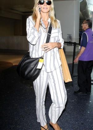 Heidi Klum - LAX airport in LA