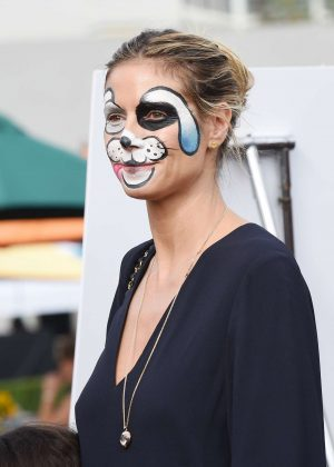 Heidi Klum - Leaves a event with her face painted in Los Angeles