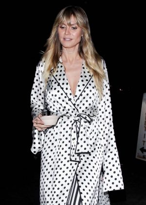Heidi Klum - Leaves Billie Eilish Album Release Party in LA