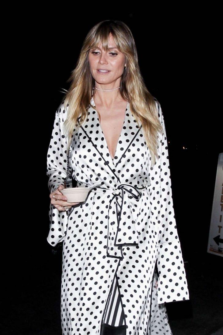 Heidi Klum - Leaves Billie Eilish Album Release Party in LA