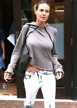 Heidi Klum Leaves the Greenwich Hotel in New York