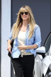 Heidi Klum - Leaves the salon in Los Angeles