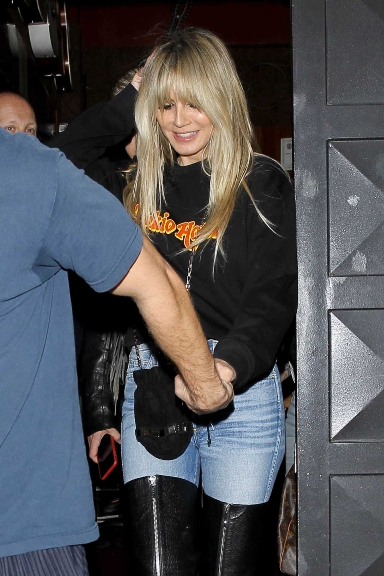 Heidi Klum - leaves the Troubadour in West Hollywood