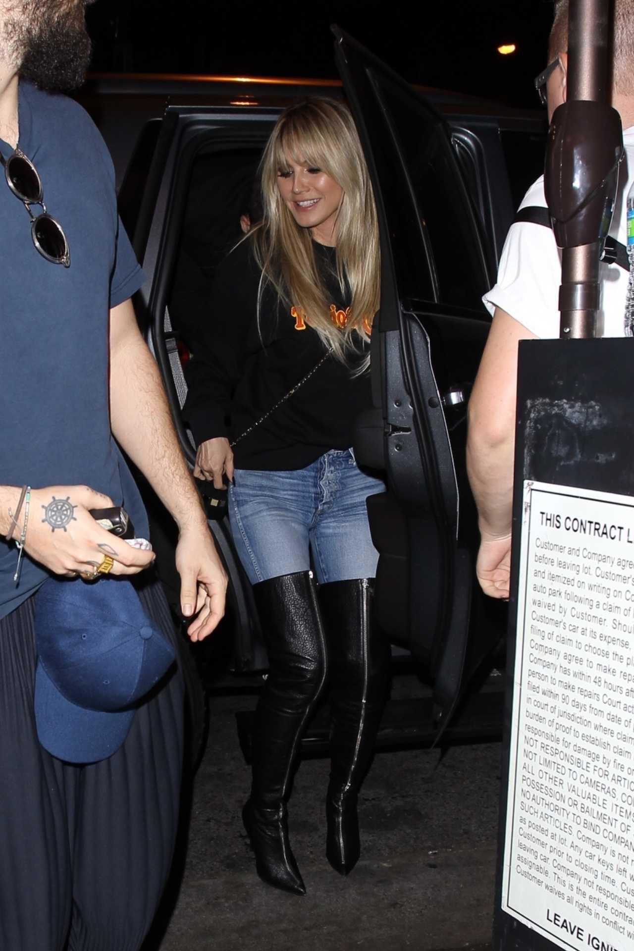 Heidi Klum 2020 : Heidi Klum – leaves the Troubadour in West Hollywood-03