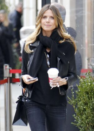 Heidi Klum - Leaving a office building in New York City