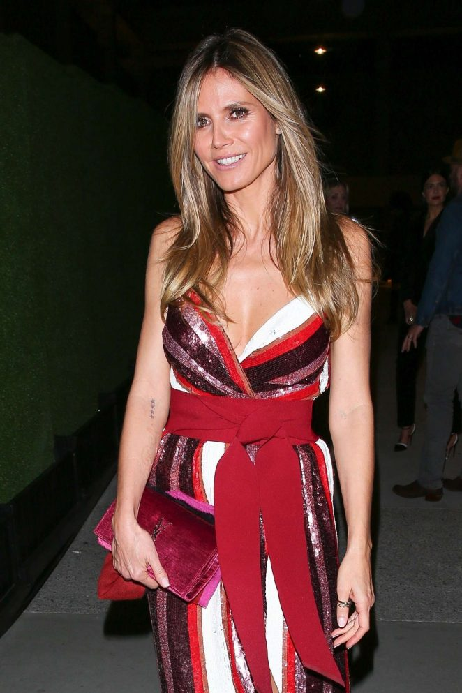 Heidi Klum - Leaving Henry restaurant in West Hollywood