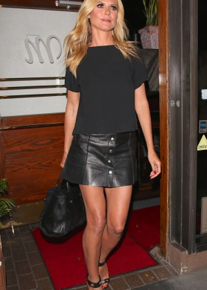 Heidi Klum Leaving Madeo Restaurant in West Hollywood