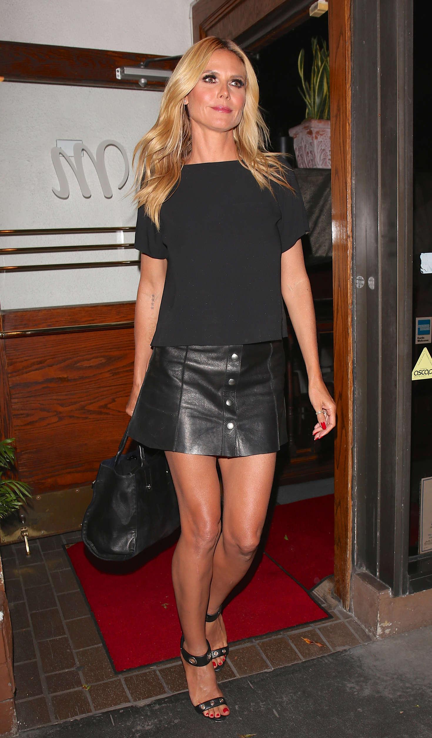 Heidi Klum Leaving Madeo Restaurant in West Hollywood