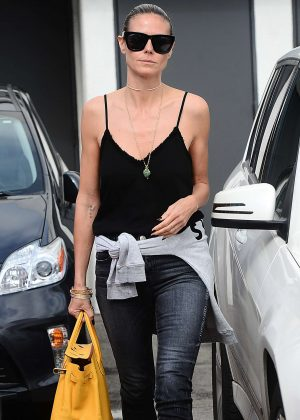 Heidi Klum - Leaving Meche salon in West Hollywood