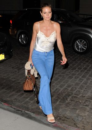 Heidi Klum - Leaving the Tamarind Restaurant in Tribeca