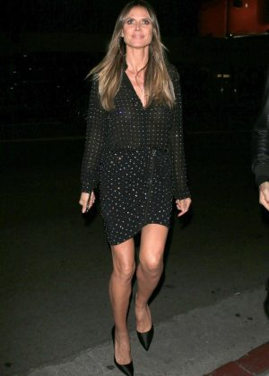 Heidi Klum - Left the DUNDAS store opening in West Hollywood