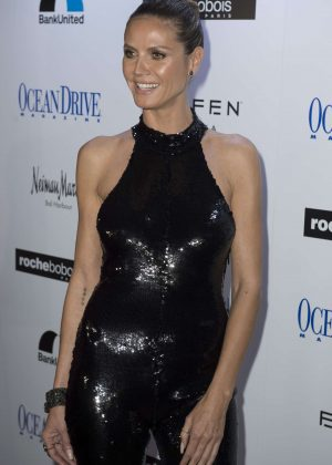 Heidi Klum - Ocean Drive Magazine December Cover Party in Miami
