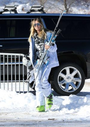 Heidi Klum on family holiday in Aspen