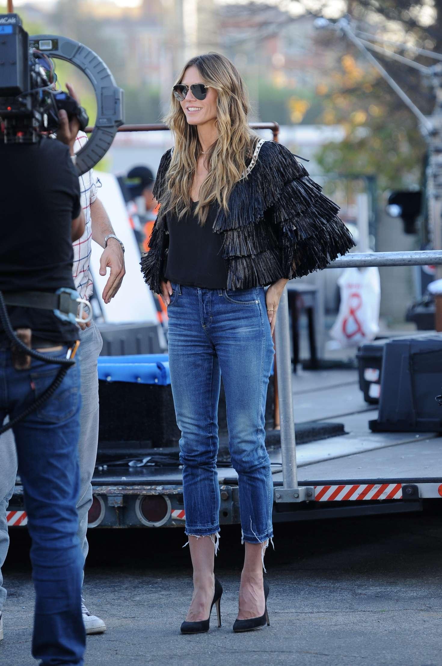 Heidi Klum 2018 : Heidi Klum on the set of Germanys Next Top Model -14